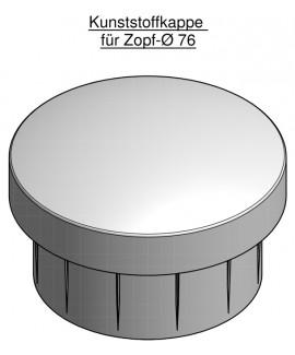 Mastkappe aus Kunststoff für 76 mm Zopf
