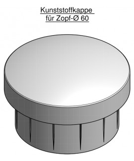 Mastkappe aus Kunststoff für 60 mm Zopf