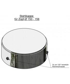 Steel cap D: 168,3 for 150-158mm top