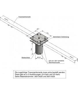 Traversenunterteil für Zopf 89 - 108