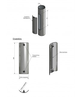 Ersatztüren aus Stahl für alle Maste 85 x 300